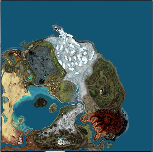Planet Toulan Map