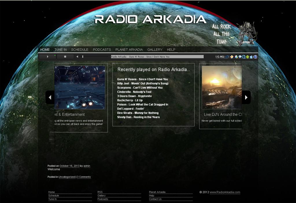 Radioarkadia Homepage